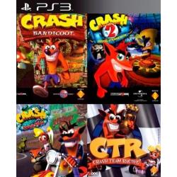 Pack Crash (Incluye Crash Bandicoot 1 2 3 CTR) Ps3 19,900.00 playstation 3 juegos digitales ps3
